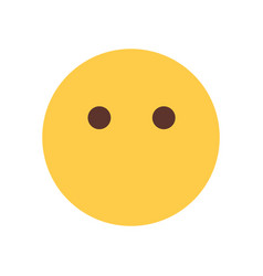 yellow cartoon face silent shocked emoji people vector image
