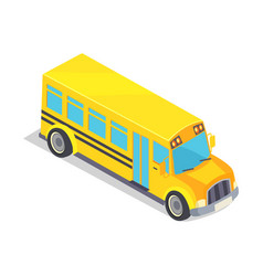 yellow school bus isolated vector image