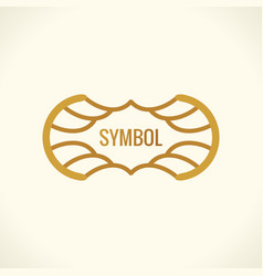 calligraphic luxury symbol emblem ornate decor vector image vector image