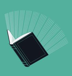 Glowing Book vector image vector image