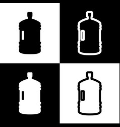 plastic bottle silhouette sign black and vector image