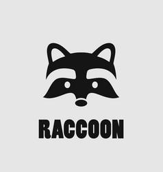 raccoon face logo vector image vector image