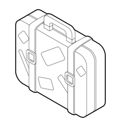 Travel suitcase icon isometric 3d style vector image vector image