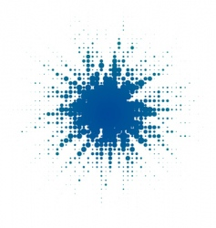 halftone blob vector image vector image