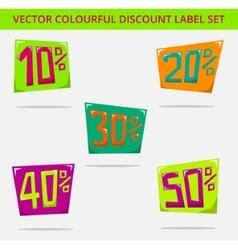 Label price square vector image