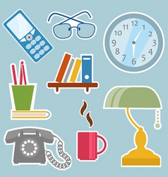 office objects vector image