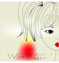 woman's head vector image vector image