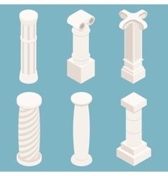 3d isometric columns vector image