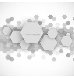 Abstract blue hexagons background vector image vector image
