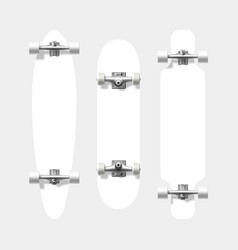 blank skateboard and longboard shapes ready for vector image vector image