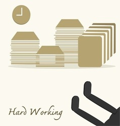 Hard Working vector image vector image