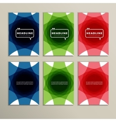 Set abstract design of different colors vector image