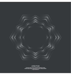 Abstract background with a hexagonal vector