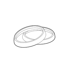Filter for camera icon outline style vector image vector image