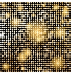 Golden shiny mosaic in disco ball style vector image vector image