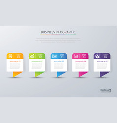 infographic tab design and marketing template vector image vector image