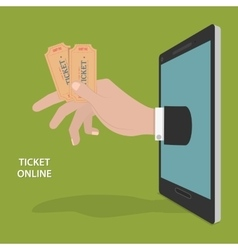 Online Ticket Order Concept vector image