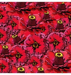 seamless colorful pattern with red flowers vector image vector image