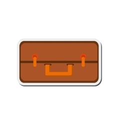travel suitcase topview icon vector image vector image