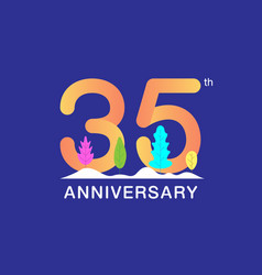 35 years anniversary celebration logotype vector image