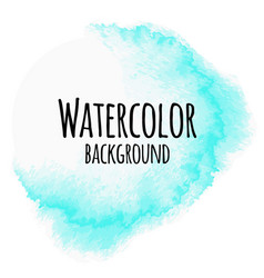 Abstract watercolor background blue color isolated vector