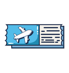 airplane ticket document to vacation travel vector image