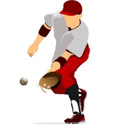 al 0947 baseball 02 vector image
