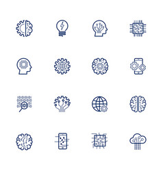 artificial intelligence related icon ai vector image
