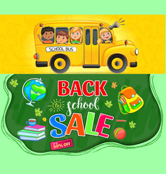 back to school promotion poster vector image