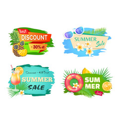 Best discount summer offer vector