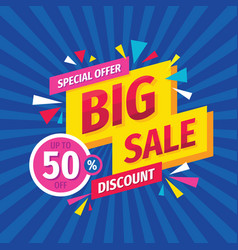 big sale discount up to 50 off - layout vector image