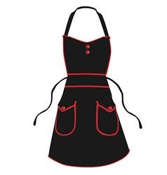 Black apron vector