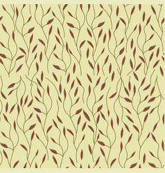 branches seamless pattern floral drawn background vector image