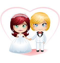 Bride and groom getting married 4 vector