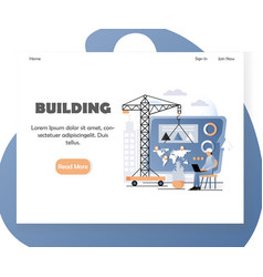 business building website landing page vector image
