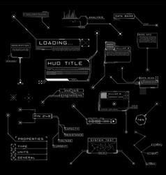Callouts titles in hud style futuristic ui design vector