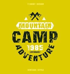 Camping badge vector image
