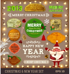 Christmas Label Set vector