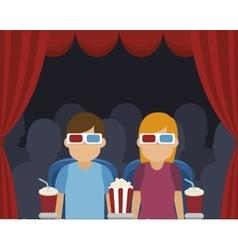 Cinema entertainment design vector