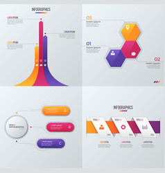 Collection of templates for infographics vector