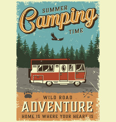Colorful summer adventure poster vector