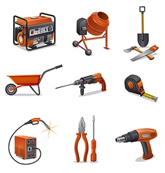 constructions tools icons vector image