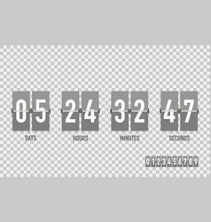 Countdown timer on a isolated background vector