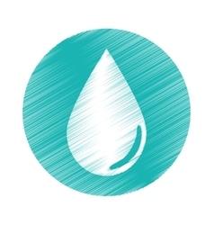 Drop shape icon vector