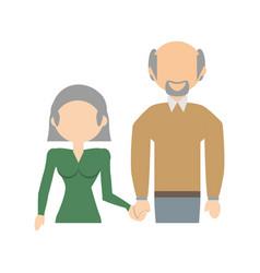 Elderly couple family image vector
