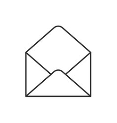 empty envelope outline icon vector image