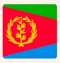 Eritrea square flag button social media vector