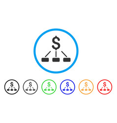 financial hierarchy rounded icon vector image
