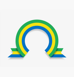 gabon flag rounded abstract background vector image