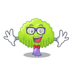 Geek drawing of willow tree shape cartoon vector